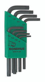 Bondhus 31734 - 8 Piece Torx L-wrench Set, Short Arm - Sizes: T9-T40