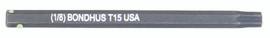 """Bondhus 32015 - T15 ProHold Torx Bit, 2"""" Length - Stock Size: 3mm"""