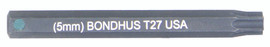 """Bondhus 32027 - T27 ProHold Torx Bit, 2"""" Length - Stock Size: 5mm"""