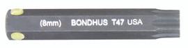 """Bondhus 32047 - T47 ProHold Torx Bit, 2"""" Length - Stock Size: 8mm"""