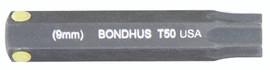 """Bondhus 32050 - T50 ProHold Torx Bit, 2"""" Length - Stock Size: 9mm"""