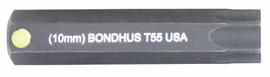 """Bondhus 32055 - T55 ProHold Torx Bit, 2"""" Length - Stock Size: 10mm"""
