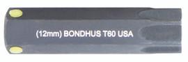 """Bondhus 32060 - T60 ProHold Torx Bit, 2"""" Length - Stock Size: 12mm"""