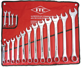 ITC 020215 - (ICW-16) 16 PC S.A.E. Combination Wrench Set