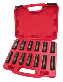 "ITC 020736 - (IPS-1312DM) 1/2"" Drive 13PC Deep Metric Impact Socket Set"