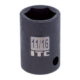 "ITC 026236 - 1/2"" Dr x 1-1/8"" Impact Socket - 6 Point"