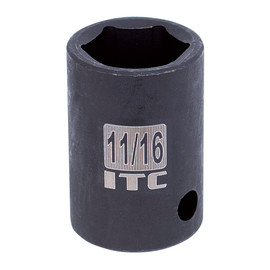 "ITC 026240 - 1/2"" Dr x 1-1/4"" Impact Socket - 6 Point"