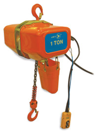 Jet 107203 - (FA1-1S) 1 Ton 15' Lift 115/230V 1PH Electric Chain Hoist - Heavy Duty