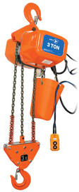 Jet 107205 - (FA1-3S) 3 Ton 15' Lift 115/230V 1PH Electric Chain Hoist - Heavy Duty