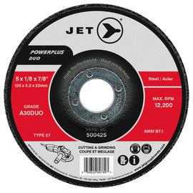 Jet 500415 - 4-1/2 x 1/8 x 7/8 A30DUO POWERPLUS DUO T27 Cutting/Grinding Wheel