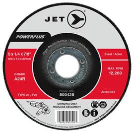 Jet 500428 - 5 x 1/4 x 7/8 A24R POWERPLUS T27 Grinding Wheel