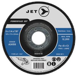 Jet 500468 - 4-1/2 x 1/4 x 7/8 A30SS POWERPLUS SST T27 Grinding Wheel