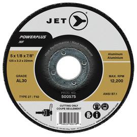 Jet 500575 - 5 x 1/8 x 7/8 AL30 POWERPLUS NF T27 Cutting Wheel