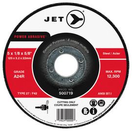 Jet 500715 - 4-1/2 x 1/8 x 7/8 A24R POWER ABRASIVE T27 Cut-Off Wheel