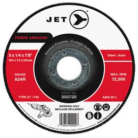 Jet 500716 - 4-1/2 x 1/4 x 7/8 A24R POWER ABRASIVE T27 Grinding Wheel