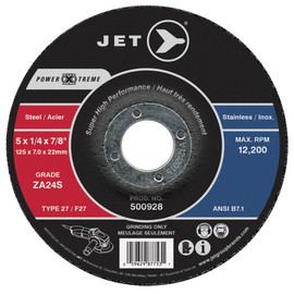 Jet 500932 - 6 x 1/4 x 7/8 ZA24S POWER-XTREME T27 Grinding Wheel