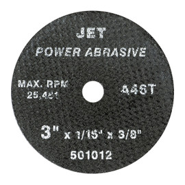 Jet 501014 - 3 x 1/8 x 3/8 A46T POWER ABRASIVE T1 Cut-Off Wheel
