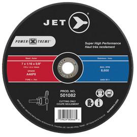 Jet 501082 - 7 x 1/16 x 5/8 A46PX POWER-XTREME T1 Cut-Off Wheel