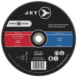 Jet 501087 - 8 x 1/16 x 5/8 A46PX POWER-XTREME T1 Cut-Off Wheel