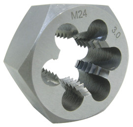 "Jet 530807 - 4mm-0.7 Alloy Steel Metric Hex Dies (1"" Hex)"
