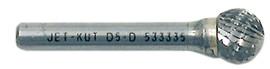 """Jet 533335 - (D5-D) 1/2"""" JET-KUT Ball Shape Bur"""