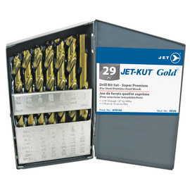 Jet 570142 - (GF29) 29 PC JET-KUT GOLD Drill Bit Set - Super Premium