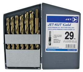 Jet 570143 - (GF–29RS) 29 PC JET-KUT GOLD Super Premium Reduced Shank Drill Bit Set