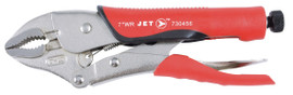 "Jet 730456 - (J7WRG) 7"" Curved Jaw Locking Pliers with Cutter - Cushion Grip"