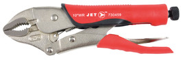 "Jet 730459 - (J10WRG) 10"" Curved Jaw Locking Pliers with Cutter - Cushion Grip"