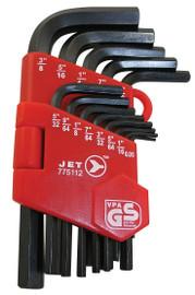 Jet 775112 - (JHK-13) 13 PC S.A.E. Short Arm Hex Key Set