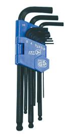 Jet 775184 - (JBHK-9M) 9 PC Metric Ball Nose Hex Key Set