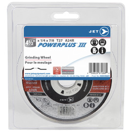 Jet 500418A01 - 4-1/2 x 1/4 x 7/8 A24R POWERPLUS T27 Grinding Wheel - Clamshell Package