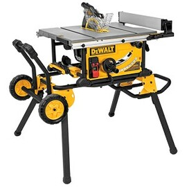 "DeWALT DWE7491RS - 10"" Compact Job Site Table Saw w/Rolling Stand"