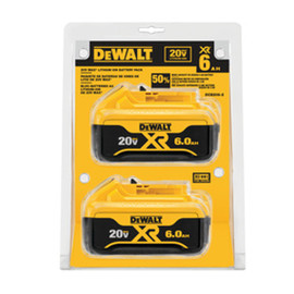 DeWALT DCB206-2 - 20V MAX LI-ION BATTERY 2-PACK (6.0 AH)