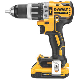 "DeWALT DCD796D2 - 20V MAX XR COMPACT 1/2"" HAMMERDRILL/DRIVER (2.0AH) W/ 2 BATTERIES AND KIT BOX"