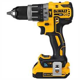 "DeWALT DCD797D2 - 20V MAX XR COMPACT TOOL CONNECT 1/2"" HAMMERDRILL/DRIVER (2.0AH) W/ 2 BATTERIES AND KIT BOX"