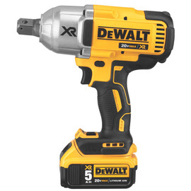 "DeWALT DCF897P2 - 20V MAX XR 3 SPEED 3/4"" HIGH TORQUE IMPACT WRENCH (5.0AH) W/ 2 BATTERIES AND BAG"
