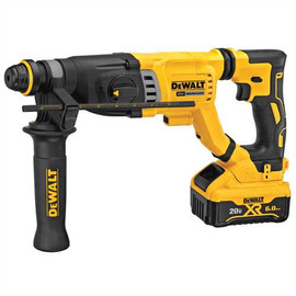 DeWALT DCH263R2 - 20V MAX XR D-HANDLE 3 MODE SDS ROTARY HAMMER (6.0AH) W/ 2 BATTERIES AND BAG