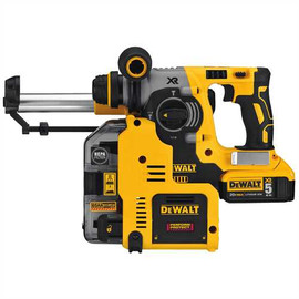 DeWALT DCH273P2DHO - 20V MAX XR 3 MODE SDS ROTARY HAMMER (5.0AH) W/ 2 BATTERIES, DUST EXTRACTOR AND KIT BOX