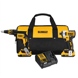 DeWALT DCK267D2 - 20V MAX 2 TOOL (DCF620 & DCF887) W/ 2 BATTERIES (2.0AH) AND BAG