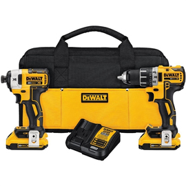 DeWALT DCK283D2 - 20V MAX XR 2 TOOL (DCD791 & DCF887) W/ 2 BATTERIES (2.0AH) AND BAG