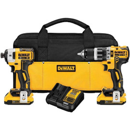 DeWALT DCK287D2 - 20V MAX XR 2 TOOL (DCD796 & DCF887) W/ 2 BATTERIES (2.0AH) AND BAG