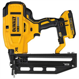 DeWALT DCN662D1 - 20V MAX XR 16 GAUGE STRAIGHT FINISH NAILER (2.0AH) W/ 1 BATTERY AND BAG