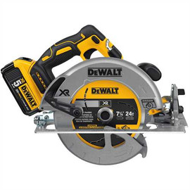 "DeWALT DCS570P1 - 20V MAX XR 7-1/4"" CIRCULAR SAW (5.0AH) W/ 1 BATTERY AND BAG"