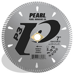Pearl DIA04GRTE - 4 X .090 X 7/8, 20MM, 5/8 P3 Tile & Stone Blade, 8MM Rim