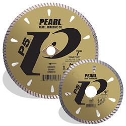 Pearl DIA45GRT - 4-1/2 X .080 X 7/8, 5/8 P5 Tile & Stone Blade, 8MM Rim