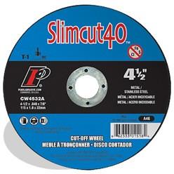 Pearl CW4532A - 41/2 X .040 X 7/8 Slimcut40 AO Thin Cut-Off Wheels, A46, Box Of 25