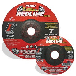 Pearl DCRED90 - 9X1/4X7/8 Redline Max-A.O. Depressed Center Wheels, A/Wa24S, Box Of 10