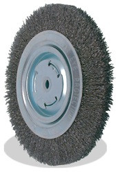 Pearl CLBW612 - 6 X 5/8 X 2, 0.014 Bench Wheel Wire Brush, Tempered Wire