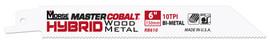 "MK Morse RB8501014T50 - Recip Saw Blade (BiMetal) ""Master Cobalt Hybrid"" 8"" x 0.050"" 10/14TPI 50/Pack"